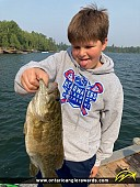 "18"" Smallmouth Bass caught on Shoal Lake"