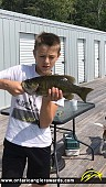 """17.5"""" Smallmouth Bass caught on Lake of the Woods"""
