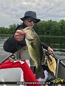 """21"""" Largemouth Bass caught on Bass Lake"""
