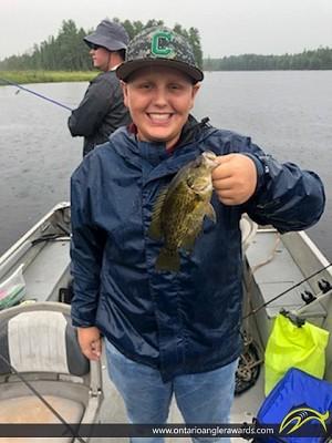"""10"""" Rock Bass caught on Sullivan Lake"""