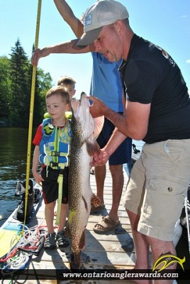 "44"" Northern Pike caught on Granite Lake"
