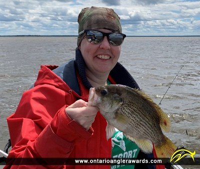 "10.25"" Rock Bass caught on Lake of the Woods"