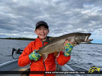 "26.5"" Lake Trout caught on Big Vermilion Lake"
