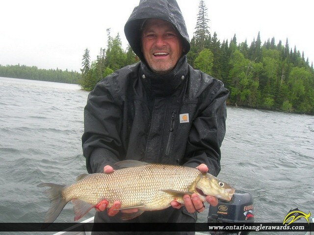 """23"""" Whitefish caught on Wawang Lake"""