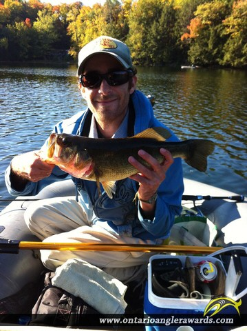 """18"""" Largemouth Bass caught on Six Mile Channel"""
