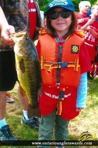 "22"" Largemouth Bass caught on Baptiste Lake"