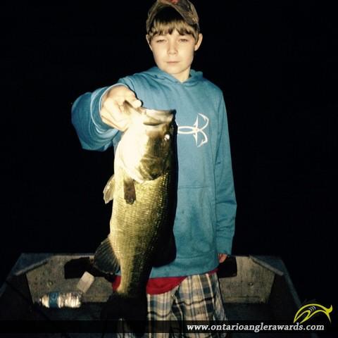 "21"" Largemouth Bass caught on Paugh Lake"