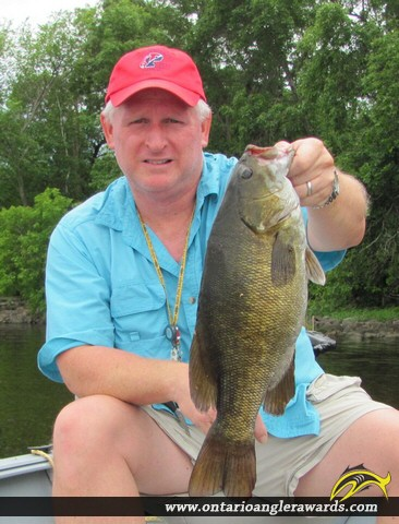"""18"""" Smallmouth Bass caught on Lake of the Woods"""