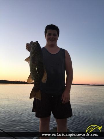 """21"""" Smallmouth Bass caught on Big Rideau Lake"""