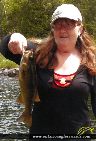 """17"""" Smallmouth Bass caught on Quirke Lake"""