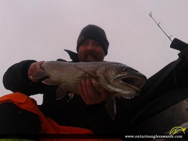 "32"" Lake Trout caught on Lake Rosseau"