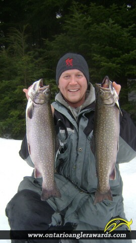 """18.02"""" Brook/Speckled Trout caught on Markoonis Lake"""