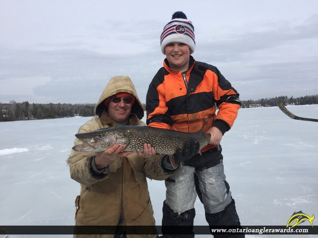 """39"""" Northern Pike caught on Longbow Lake"""