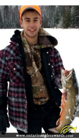 """26"""" Splake caught on Laurie Lake"""