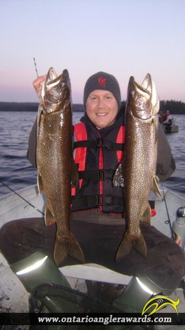 "26.50"" Lake Trout caught on North Tea Lake"