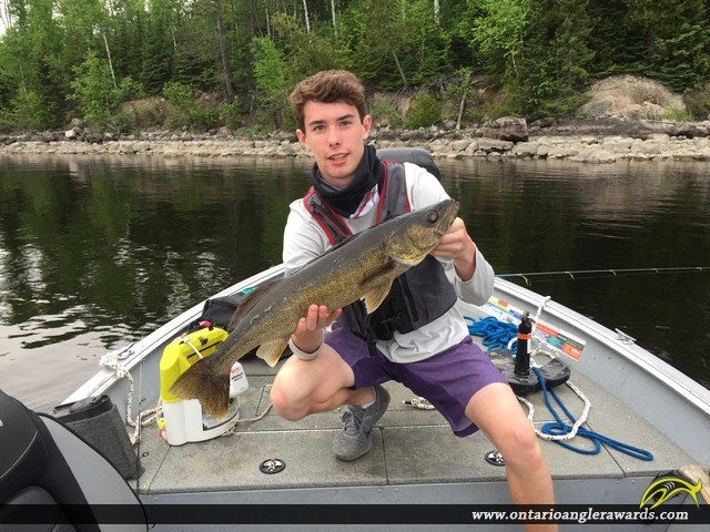 "28"" Walleye caught on Lac Seul"