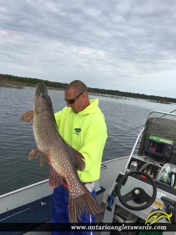 "44"" Northern Pike caught on Lake Huron"