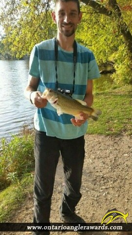 "18"" Largemouth Bass caught on Alder Lake"