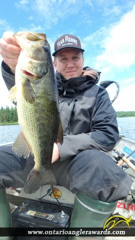 "18.04"" Largemouth Bass caught on Wasi Lake"
