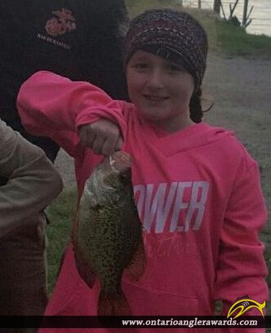 """10"""" Black Crappie caught on Lake of the Woods"""