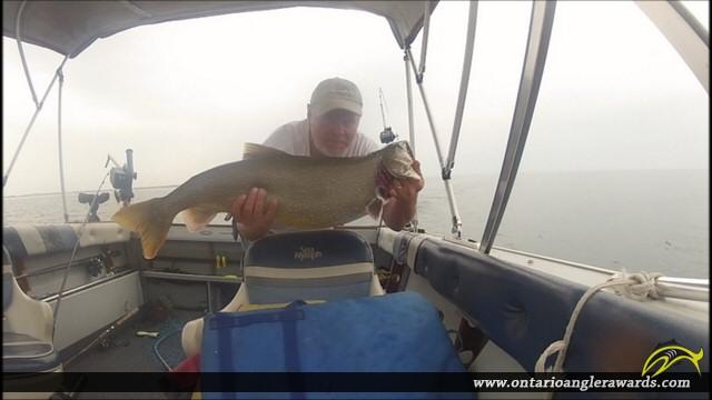 """32"""" Lake Trout caught on Lake Ontario"""