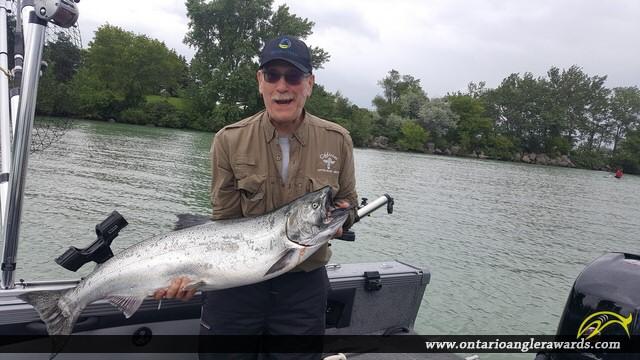 """39"""" Chinook Salmon caught on Lake Ontario"""