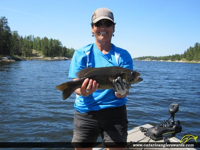 "18"" Smallmouth Bass caught on Winnipeg River"