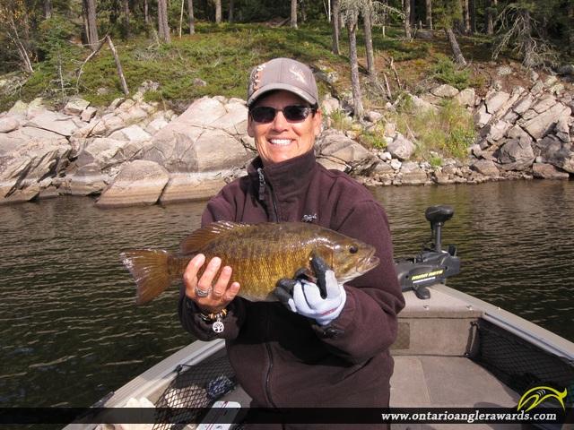 "17"" Smallmouth Bass caught on Winnipeg River"