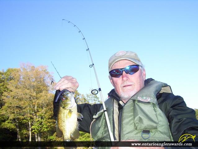 "10"" Rock Bass caught on Killenbeck Lake"