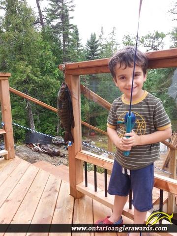 """18"""" Smallmouth Bass caught on Beaverhouse Lake"""