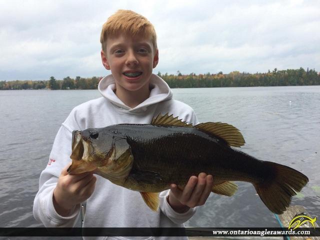 """19"""" Largemouth Bass caught on Chebogan Lake"""
