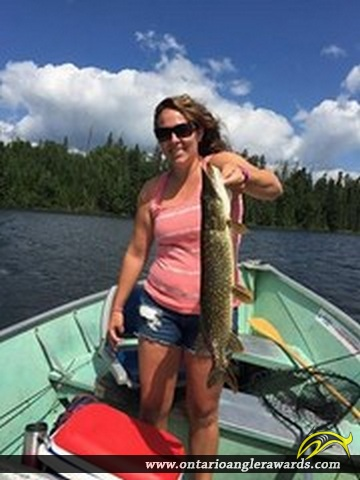 "32"" Northern Pike caught on Wawang Lake"
