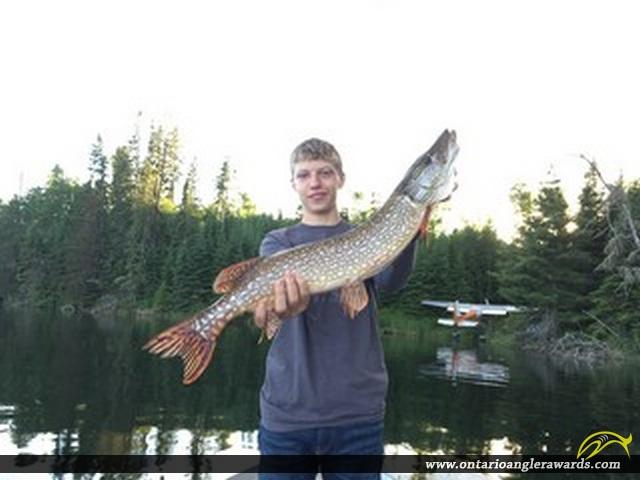 "30"" Northern Pike caught on Wawang Lake"