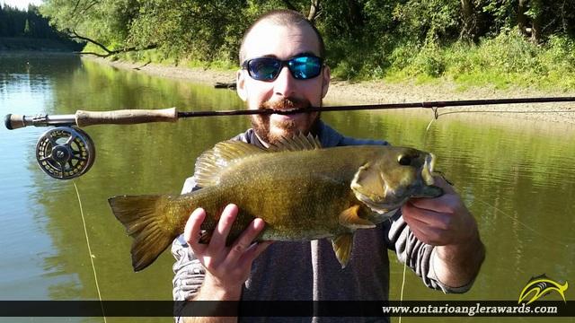 "19"" Smallmouth Bass caught on Saugeen River"
