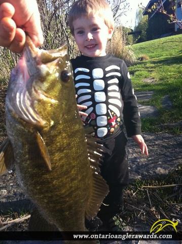 "18"" Smallmouth Bass caught on Ottawa River"