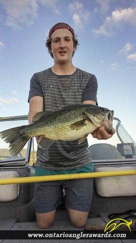 """20.5"""" Largemouth Bass caught on Jack Lake"""