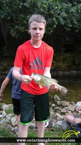 "18"" Largemouth Bass caught on Irvine River"